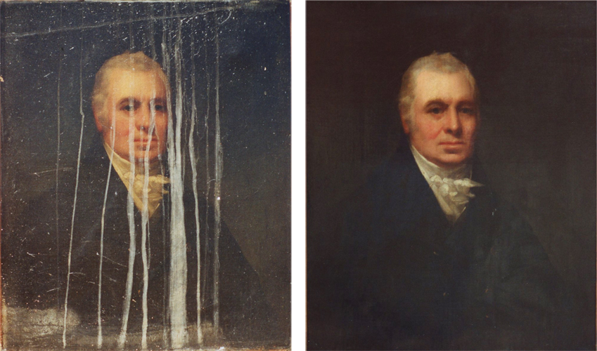 Painting Restoration Before And After